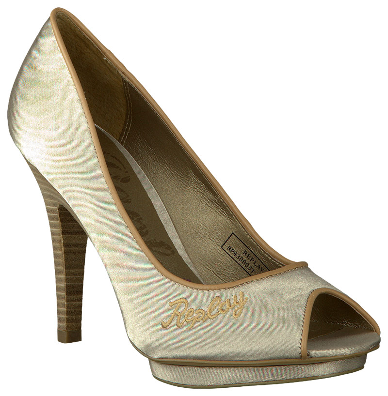 gouden replay pumps colinne